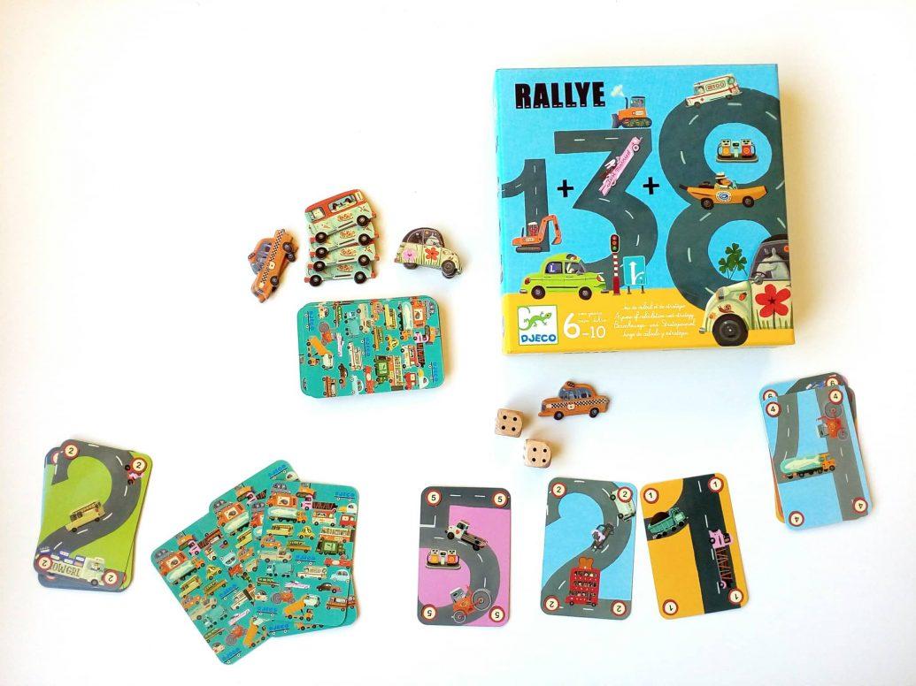 Kartová hra Rallye od KidsWorld. Ilustroval Tom Schamp.